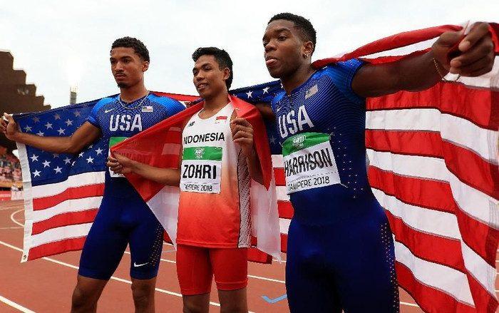 Sprinter Indonesia Raih Emas di Kejuaraan Dunia Atletik U-20