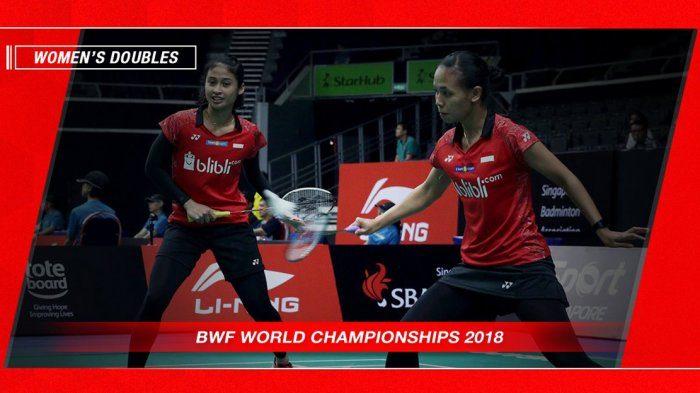 Jadwal Lengkap 4 Wakil Indonesia di Kejuaraan Dunia 2018 Hari Jumat Ini. Live di TVRI