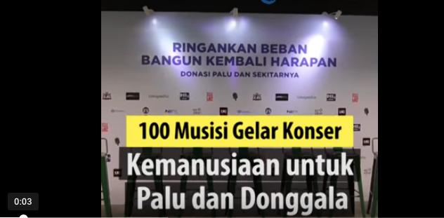 Ratusan Musisi Ternama Akan Manggung di Konser Kemanusiaan untuk Palu dan Donggala