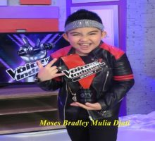 "Moses Menerima Penghargaan ""The Most Outstanding Digital Performance"" Dengan Predikat ""The Highest Viewer Video"" Di The Voice Kids Indonesia"