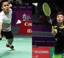 Ginting vs Shi Yuqi di Perempatfinal Fuzhou China Open 2018, Simak Riwayat Pertandingan Mereka